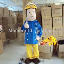 New Fireman Sam Mascot Costume Fancy Dress