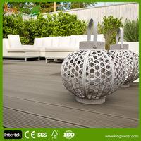 Exterior wood plastic composite flooring / waterproof engineered wood plastic patio floors / balcony outdoor floor covering