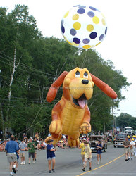 Giant Inflatable Happy Puppy for Parade