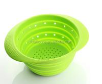 Set of 2 sizes the silicone folding filter basket