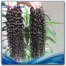 Tangle Free 6A Grade Kinky Curly Remy Hair Weaving 99J