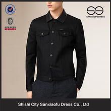 Maschio nuovo design giacca riscaldata, lavoro giacca con collare di cuoio