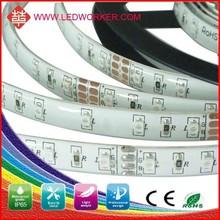 Long lifespan and eye enjoyable !! CE &ROSH smd5050waterproof 30leds/m RGB chasing strip light gradation