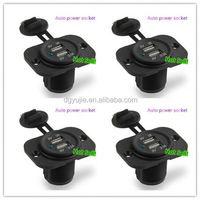 EU/US/UK Type Twin usb panel Power Socket/plug/outlet used in car boat van truck
