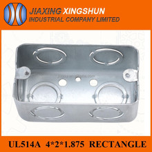 UL standard galvanized steel floor cable cover/wall mounted outlet box