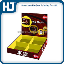 Professional OEM Cardboard PDQ Display stand Counter box For chocolate Retail With Cells / Compartments