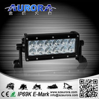 positive comments high lumen AURORA 6 inch 60W dual row led offroad work lamp