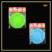 Wholesale the bright paper doilies with green and blue