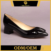 Customize Exceptional Quality Latest Low Heel Evening Shoes For Women