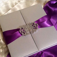 Royal Purple Wedding silk invitation box gift box