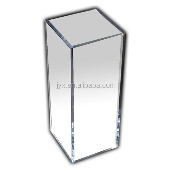 Acrylic Mirror Pedestal Acrylic Square Column Display