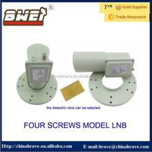 Four screws model c band dual polarity lnb with satellite antenna low rice