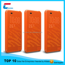High quality flip silicon case for HTC 820 ,fashion design dot view silicon case for HTC 820 with honeycomb dot