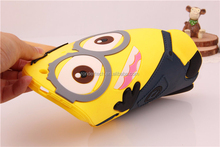 Cool minion 3D cartoon soft Case For iPad Mini, For iPad Mini Colorful Slim Silicone Case