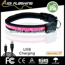 Rechargeable led dog collar sports equipments