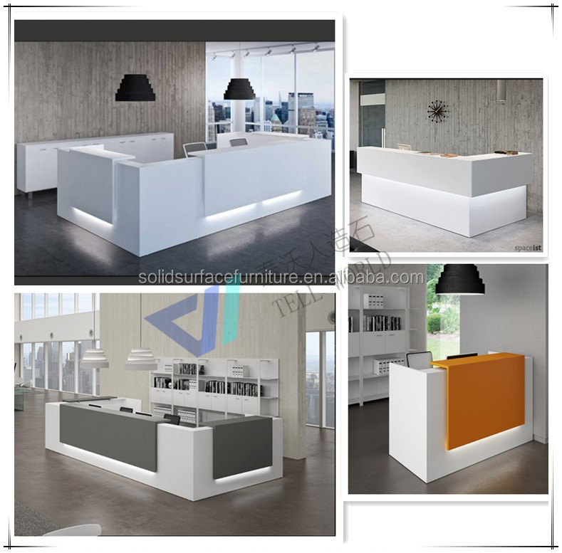 Custom Modern Beauty Salon Reception Desk Office Front