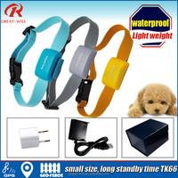 Geo-fence small waterproof dog collar gps tracking