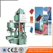 The latest development of roof tile making machine