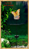 ceramic butterfly with led solar light