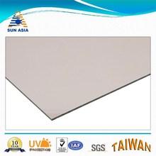 UV coated maroon solid feuille en polycarbonate