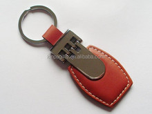 Best selling retail items Red Leather Key Chain For car