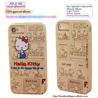 custom kids silicon case for iphone, full color printing cell Silicone phone case for iphone,3d silicon animal case for iphone 5