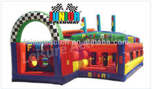 Inflatbable game jumping castle moonwalk heavy duty PVC Junior Speedway Playtona obstacle course from Leisure Activities China