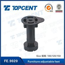 Furniture kitchen cabinet fittings PP ABS adjustable leveling feet