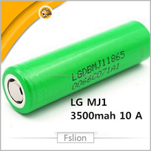 High Quality 18650 Rechargeable Battery LG Chem INR18650 MJ1 lgdbmj11865 3.7v 3500mah 10a discharge cells green lg mj1