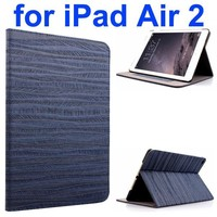 Sand Painting Texture Flip Leather Smart Case for iPad Air 2 with Holder