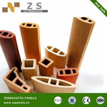 fire prevention Outdoor Glazed Terracotta Exterior Wall Cladding Stick Made In China