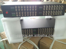 64ch sm coax to fiber data video converter rack mount type
