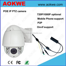 Aokwe hot selling 2MP Full HD 1080P 10X optical zoom mini speed dome outdoor ptz ip camera poe optional