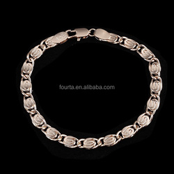 Anniversary Gold Vacuum Plating bracelet hand chain for men