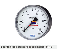 wika Bourdon tube pressure gauge back mount Panel mounting series 111.16