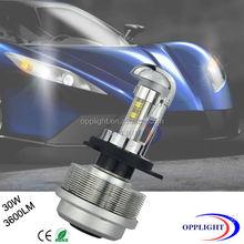 High Power Cre e H4 Hi Lo Beam LED Headlights Conversion Kit