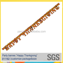 Paper Happy Thanksgiving Hanging Letter Banner