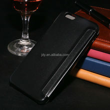 China Supplier OEM Blank Leather Phone Case, Sublimation Leather Flip Cover for Case Iphone 6