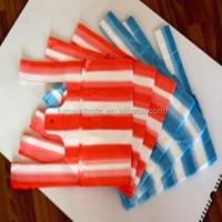 2015 t-shirt plastic shopping bag, convenient colorful plastic strip bag