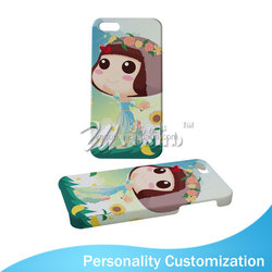Sublimation Coated DIY tpu bumper phone case for iPhone5/5s
