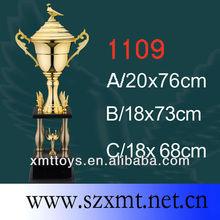 polishing and plating metal bird trophy height 73cm