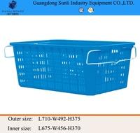 114L Cheap PE Storage Plastic laundry Basket with handle