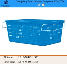 114L Cheap PE Storage Plastic laundry Basket with handle