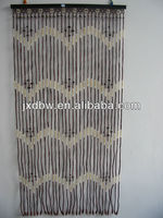 Decorative Wood and Bamboo Beaded Door Curtain