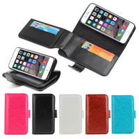 High Quality Products for iPhone 6 Leather Case, Inside Extra Long Wallet Flip Card Slot for iPhone 6 TPU Cover