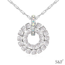 14627 Chinese Jewelry Factory crystal fan necklace