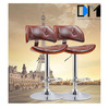 Used Restaurant Table and Chair,Modern Style Wooden Leather Swivel Bar stools with Backrest