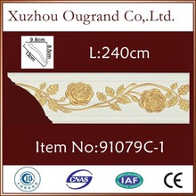 wall ceiling cornice and white background wedding hall decoration