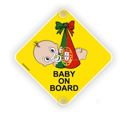 Plastic Baby on board safety car decal/sticker bumper