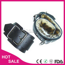 Leather or PVC Black sex toy supplier sex toy for male female leather ankle restraint